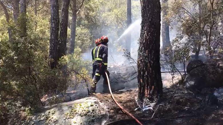 Bombeiros combatem incêndios florestais na Espanha que aumentaram desde o fim de semana. Crédito: Imagem divulgada pelo twitter @112cmadrid